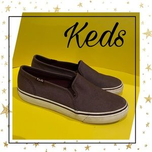 Keds Burgandy Canvas Women's Loafers 8.5